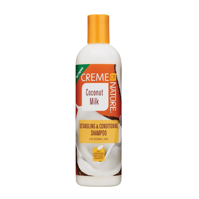 CREME OF NATURE | COCONUT MILK SHAMPOO (12OZ) [DETANGLING & CONDITIONING] - Hair to Beauty