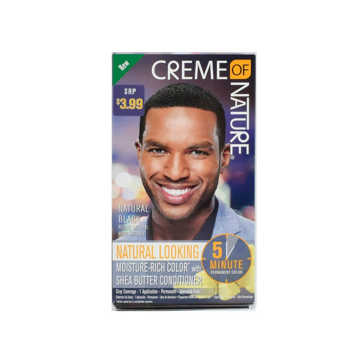 CREME OF NATURE | CLR MEN 5-MIN LIQUID COLOR NATURAL BLACK - Hair to Beauty