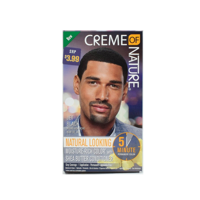 CREME OF NATURE | CLR MEN 5-MIN LIQUID COLOR JET BLACK - Hair to Beauty