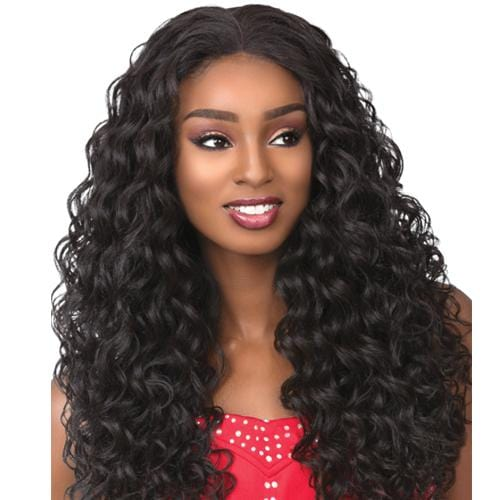 VIXEN CURLY BODY 22 INCH | Sensationnel Cloud9 Synthetic 4-Way Multi Parting Swiss Lace Front Wig - Hair to Beauty | Color Shown: