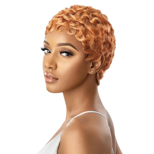 CURLY PIXIE | Duby Human Hair Wig - Hair to Beauty | Color Shown: SOFT ORANGE