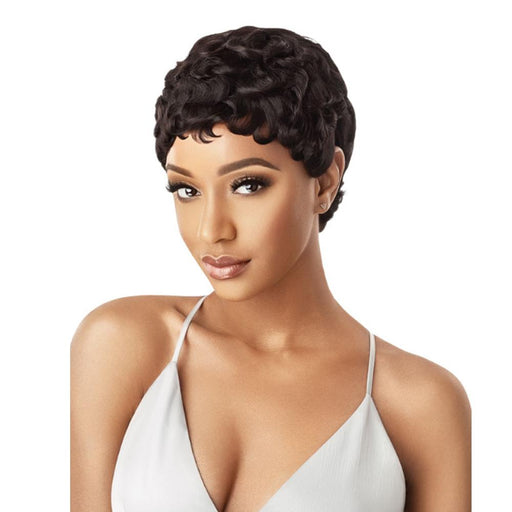 CURLY PIXIE | Duby Human Hair Wig - Hair to Beauty | Color Shown: 1B
