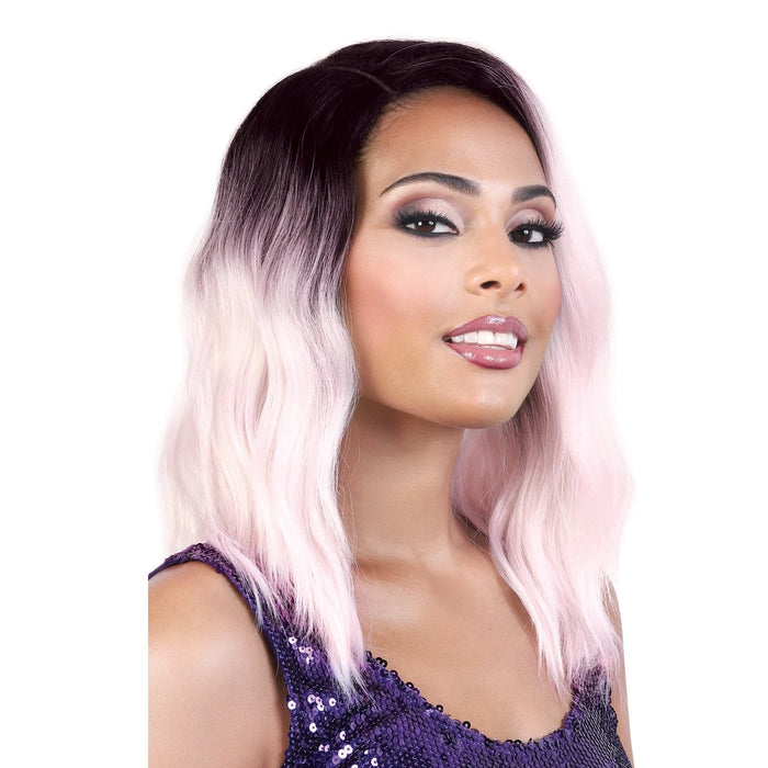 LDP-CURVE3 | Let's Lace Synthetic Curve Part Swiss Lace Front Wig.