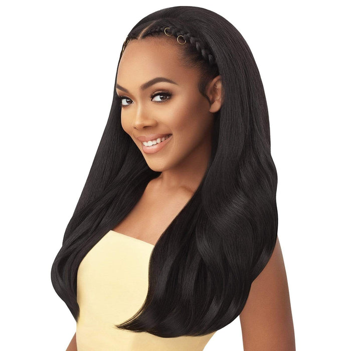 CURVY ADDICTION - Outre Converti Cap Wet & Wavy Synthetic Wig - Hair To Beauty | Color Shown : 1B