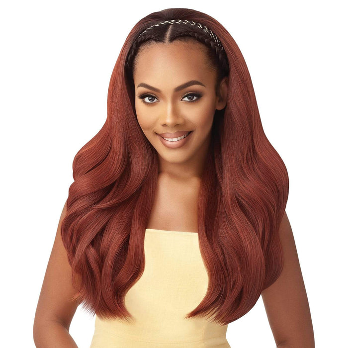CURVY ADDICTION - Outre Converti Cap Wet & Wavy Synthetic Wig - Hair To Beauty | Color Shown : DR2/Cinnamon Spice