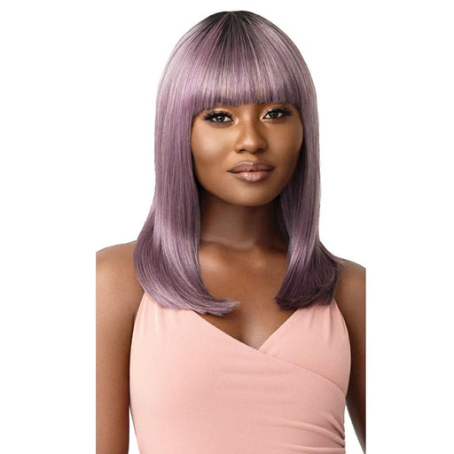 DAHLIA | Outre Wigpop Synthetic Full Cap Wig - Hair to Beauty | Color Shown: DR LAVENDER