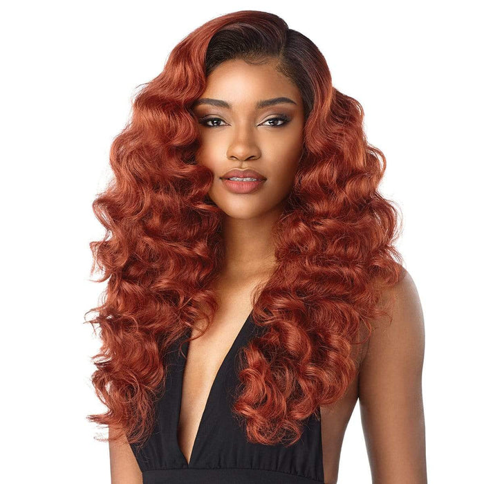 DARLENE | Cloud9 What Lace? Synthetic 13X6 Swiss Lace Front Wig - Hair to Beauty | Color Shown : T1B/BG