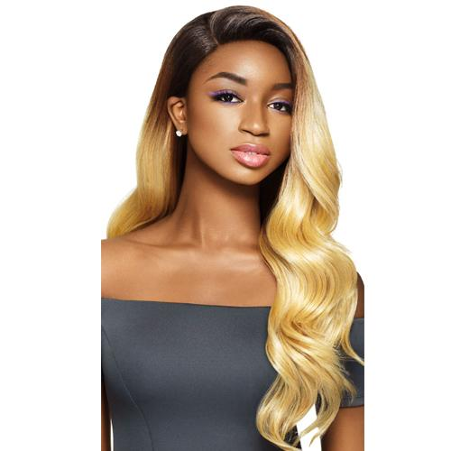 DASHA | Outre &Play Human Hair Optimix 13x4 Lace Frontal Wig - Hair to Beauty | Color Shown: DR27613