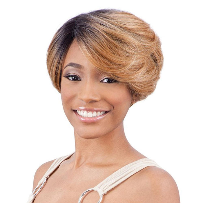 DAVINA | Synthetic Deep Part Lace Front Wig.