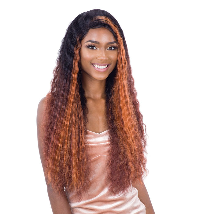 DEEP WAVER 002 | Synthetic Lace Front Wig - Hair to Beauty | Color Shown: FFH1B99130