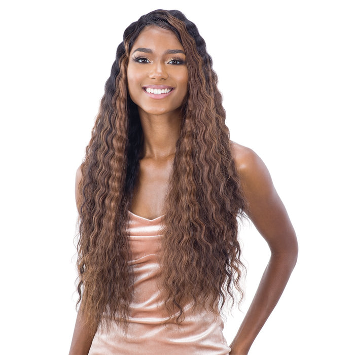 DEEP WAVER 002 | Synthetic Lace Front Wig - Hair to Beauty | Color Shown: FFH1B2430