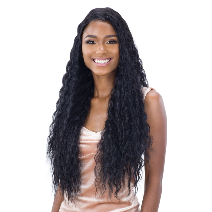 DEEP WAVER 002 | Synthetic Lace Front Wig - Hair to Beauty | Color Shown: 1B
