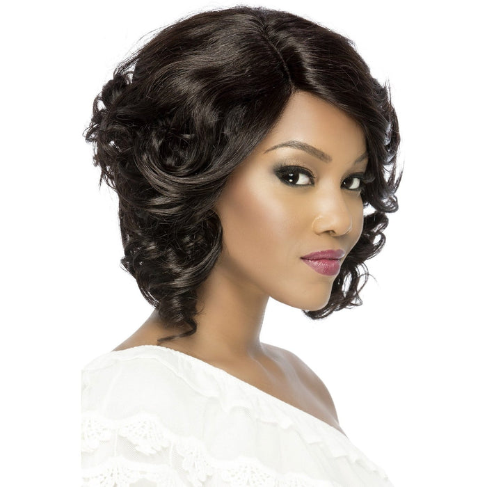 DELILAH | Vivica A. Fox Brazilian Remi Invisible Part Swiss Lace Front Wig - Hair to Beauty | Color Shown: NATURAL