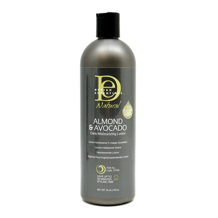DESIGN ESSENTIALS | ALMOND & AVOCADO MOISTURIZING LOTION (16OZ) - Hair to Beauty