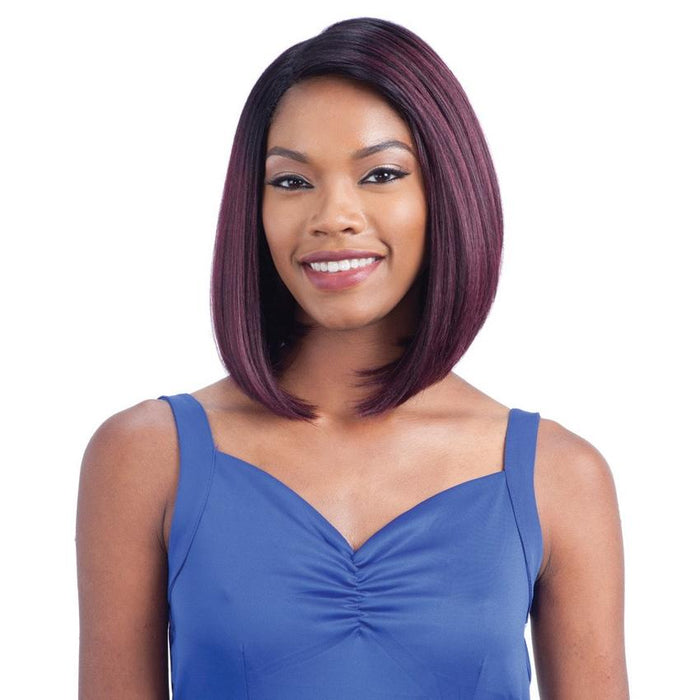 DIDI | Synthetic Deep Diagonal Part Lace Front Wig.