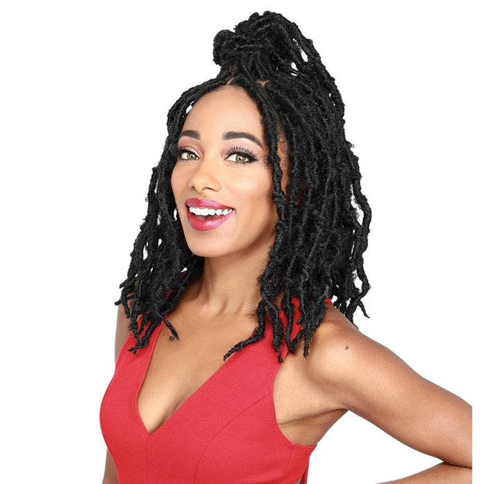 DIVA LACE BUTTERFLY LOC SHORT - Zury Synthetic Knotless Braid Lace Front Wig - Hair To Beauty | Color Shown :