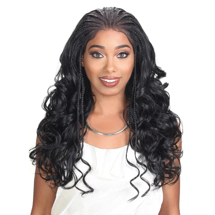 DIVA-LACE H FULANI 101 | Zury Sis Diva Lace Front Wig - Hair to Beauty | Color Shown: 1B