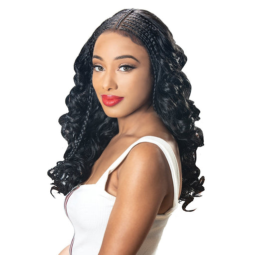 DIVA-LACE H FULANI 103 | Zury Sis Synthetic Lace Front Wig - Hair to Beauty | Color Shown : 1B