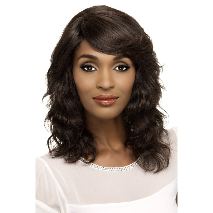 DIVA | Vivica A. Fox Brazilian Remi Pure Stretch Cap Human Hair Wig - Hair to Beauty | Color Shown: NATURAL