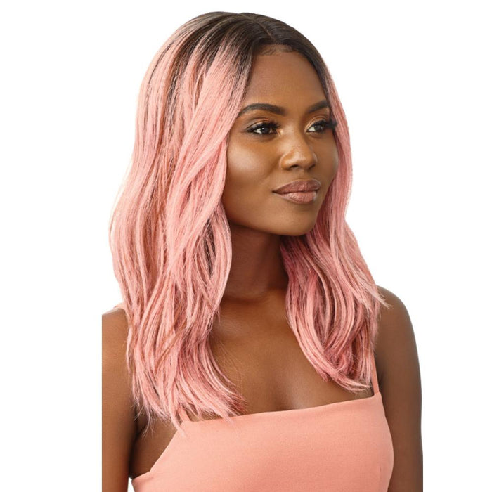 DORIAN | Synthetic Swiss Lace Front Wig - Hair to Beauty | Color Shown: DR Pink Opal