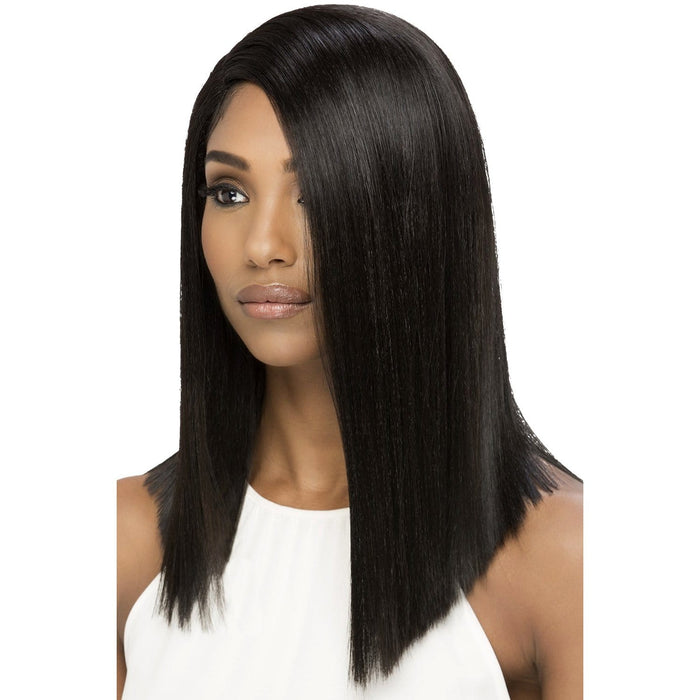 EDITH | Vivica A. Fox Synthetic Natural Baby Hair Invisible Part Swiss Lace Front Wig - Hair to Beauty | Color Shown: 2