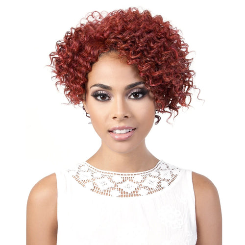 ELSIE | Motown Tress Synthetic Wig - Hair to Beauty | Color Shown: RED COPPER
