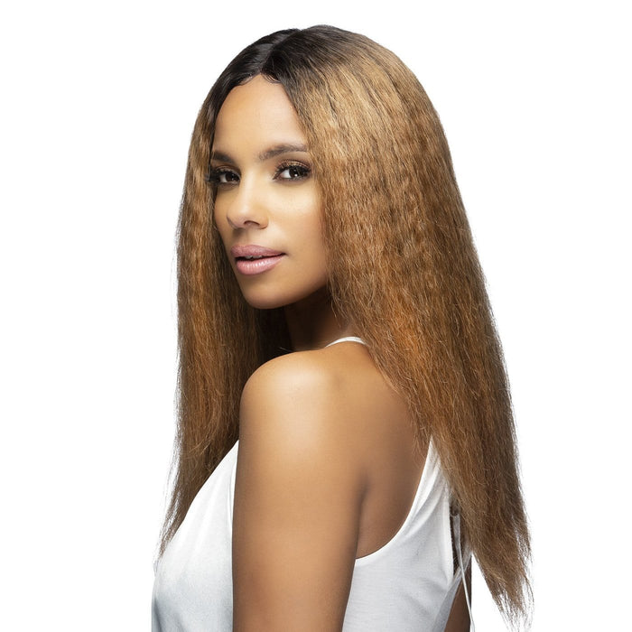 EMERSON | Brazilian Remi Swiss Lace Front Wig - Hair to Beauty | Color Shown: TT1B/30