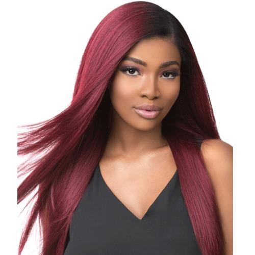 BOUTIQUE KINKY STRAIGHT | Sensationnel Empress Lace Front Edge Boutique Bundles Wig - Hair to Beauty | Color Shown:
