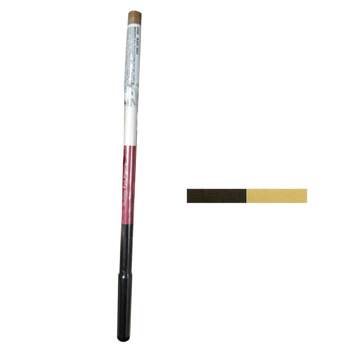 KISS NEW YORK PROFESSIONAL | Doubletke Eye Pencil Black / Gold - Hair to Beauty