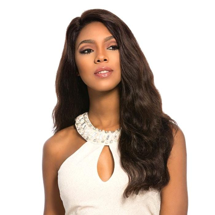 EURO BODY - Sensationnel Bare & Natural 100% Brazilian Virgin Remi Swiss 4x4 Lace Wig - Hair To Beauty | Color Shown : Natural