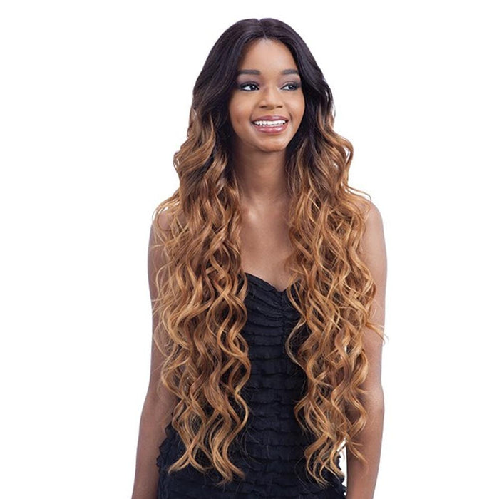 EV-001 | Premium Seven Star V-Shaped Synthetic Lace Front Wig.