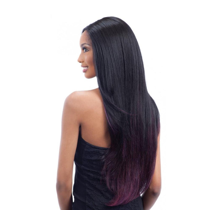 EV-003 | Premium Seven Star V-Shaped Synthetic Lace Front Wig - Hair to Beauty | Color Shown: