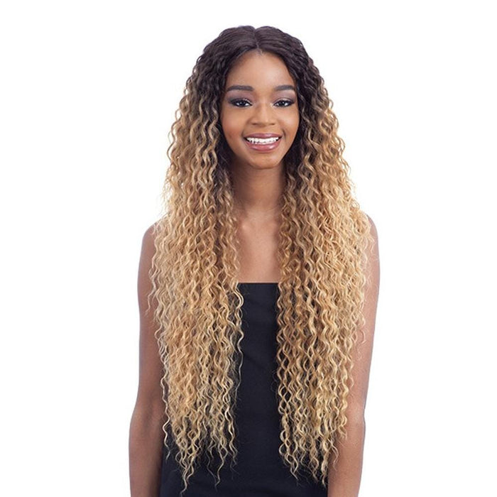 EV-004 | Premium Seven Star V-Shaped Synthetic Lace Front Wig - Hair to Beauty | Color Shown: