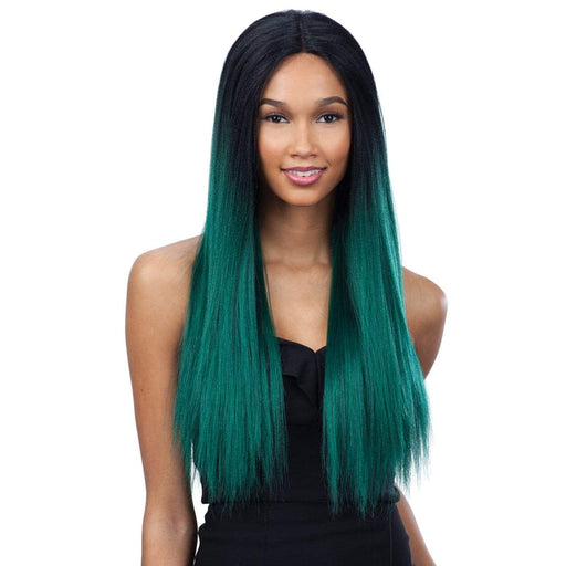 EVLYN l FreeTress Synthetic Premium Delux Lace Front Wig - Hair to Beauty l Color Shown: OTDKGN