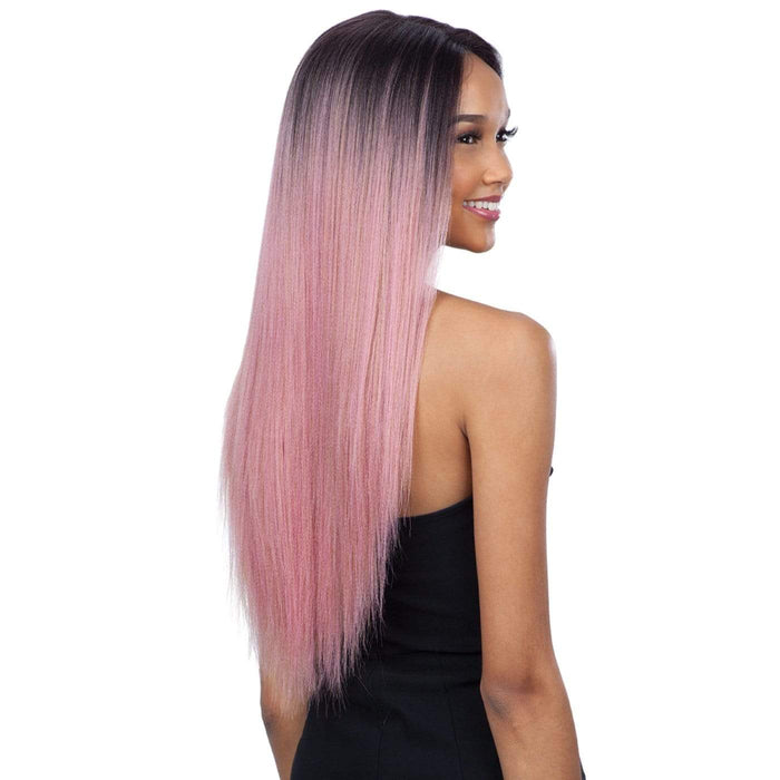 EVLYN l FreeTress Synthetic Premium Delux Lace Front Wig - Hair to Beauty l Color Shown: PINKGOLD