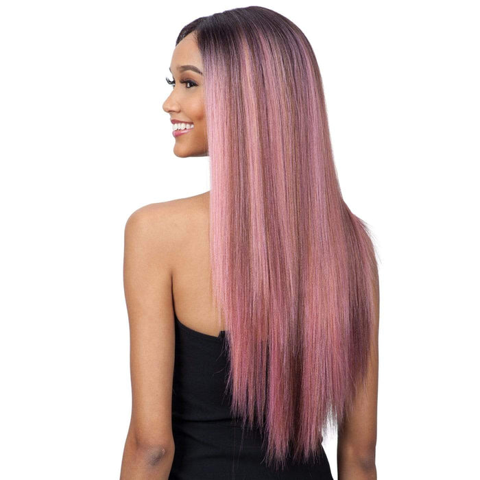 EVLYN l FreeTress Synthetic Premium Delux Lace Front Wig - Hair to Beauty l Color Shown: ROSEPINK