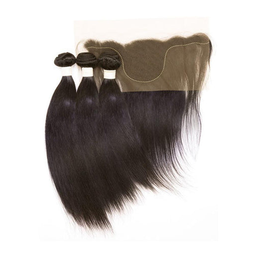 "EZ DIY STRAIGHT 10""12""14""+13X4 TEMPLE 