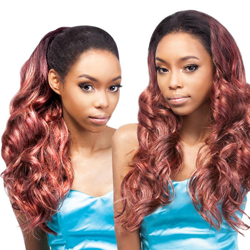 FANCY | Outre Quick Weave Up Do U Synthetic Half Wig - Hair to Beauty | Color Shown: