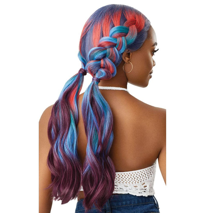 FANTASIA | Color Bomb Synthetic Swiss Lace Front Wig - Hair to Beauty | Color Shown: MC DEEP COSMOS