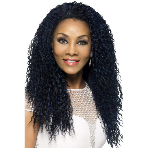 FHW-MEENA | Vivica A. Fox Synthetic Express Half Wig - Hair to Beauty | Color Shown: M1DBLU