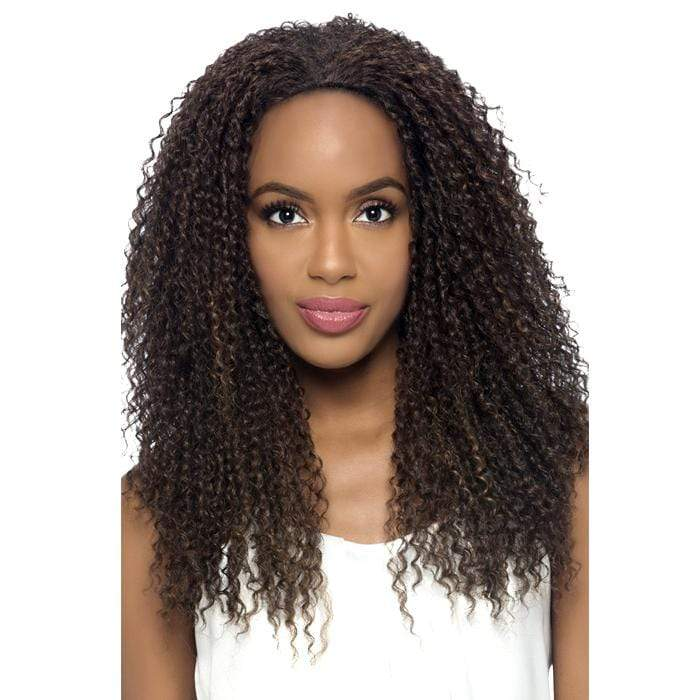 FHW-MEENA | Vivica A. Fox Synthetic Express Half Wig - Hair to Beauty | Color Shown: FS1B/30