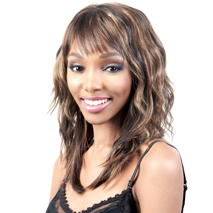 FLIRT | Motown Tress Synthetic Wig - Hair to Beauty | Color Shown: 1BMF345