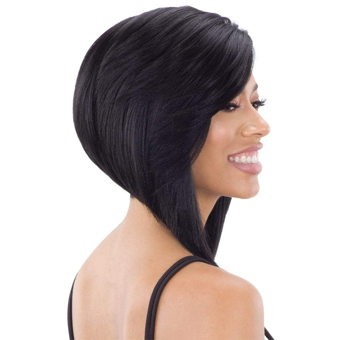 FLOWY BANG | Lace Part Synthetic Wig | Color Shown: 1B - Hair to Beauty