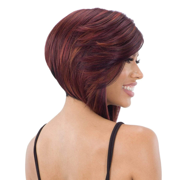 FLOWY BANG | Lace Part Synthetic Wig | Color Shown: NHCINNAMON - Hair to Beauty