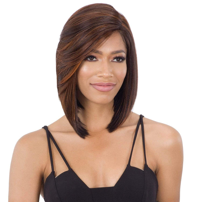 FLOWY BANG | Lace Part Synthetic Wig | Color Shown: NHMARIGOLD - Hair to Beauty