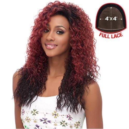 FLS05 | Harlem125 Synthetic 4x4 Swiss Lace Frontal Wig - Hair to Beauty | Harlem125 Color Shown : SGDWINE