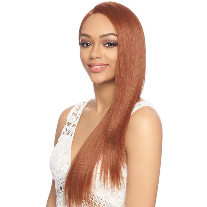 FLS51 | Harlem125 Synthetic 13x6 Swiss Lace Wig - Hair to Beauty | Harlem125 Model Color: SOFT COPPER