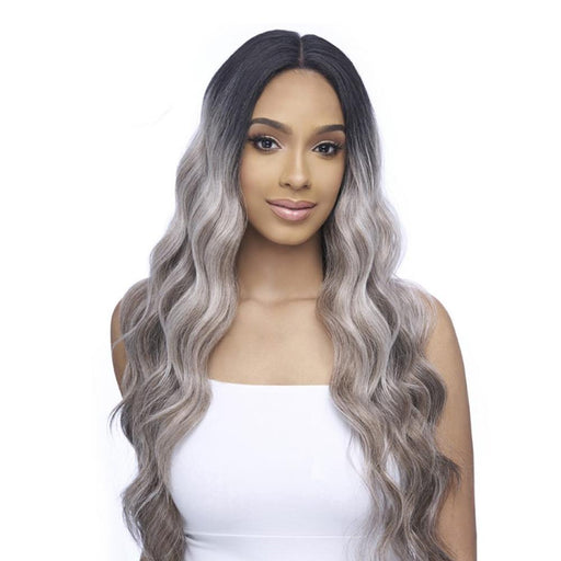 FLS56 | Synthetic 13x5 Swiss Lace Frontal Wig - Hair to Beauty | Color Shown: SGD1427