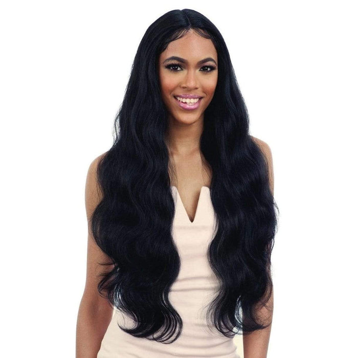 FREEDOM PART LACE 402 | Freetress Synthetic Lace Front Wig - Hair To Beauty | Color Shown : 1B