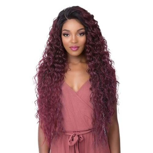 FRONTAL 360 LACE TAMARA | It's a Wig! Human Hair Blend Lace Front Wig - Hair to Beauty | Color Shown: TTP MIST BURG